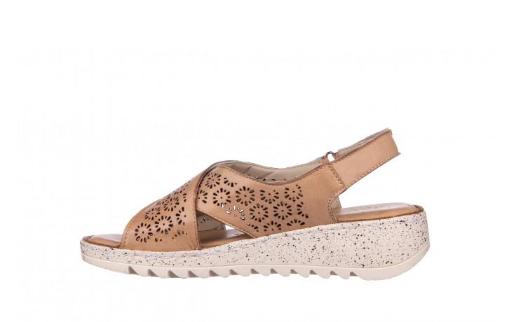 Sandały bayla-161 016 921 cappuccino 161192, brąz, skóra naturalna - sandały - buty damskie - kobieta 2