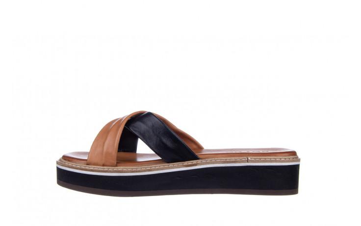 Klapki bayla-161 105 6004 black tan 161214, czarny/ brąz, skóra naturalna  - klapki - buty damskie - kobieta 2