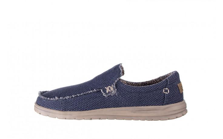 Półbuty heydude mikka braided deep blue 003196, granat, materiał - buty męskie - mężczyzna 2
