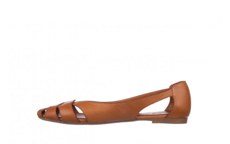 Baleriny bayla-161 093 6047 coconut 161209, brąz, skóra naturalna  - skórzane - baleriny - buty damskie - kobieta 2