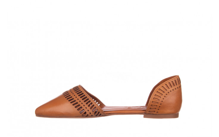 Baleriny bayla-161 138 1102 coconut 161216, brąz, skóra naturalna  - skórzane - baleriny - buty damskie - kobieta 2