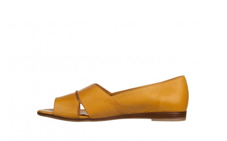 Baleriny bayla-161 138 80123 noce 161225, żółty, skóra naturalna  - skórzane - baleriny - buty damskie - kobieta 2
