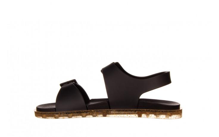 Sandały melissa wide sandal ad black rice husk 010358, czarny, guma - nowości 2