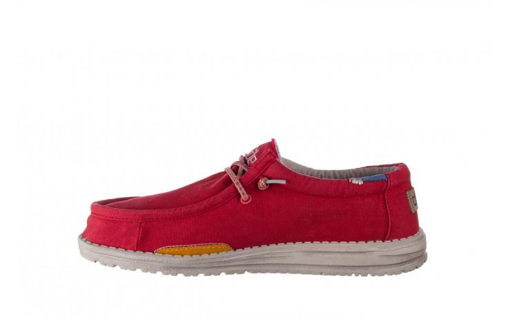 Półbuty heydude wally washed molten lava 003208, czerwony, materiał - trendy - mężczyzna 2