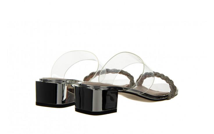 Klapki sca'viola b-205 silver 047180, srebro, silikon - klapki - buty damskie - kobieta 3