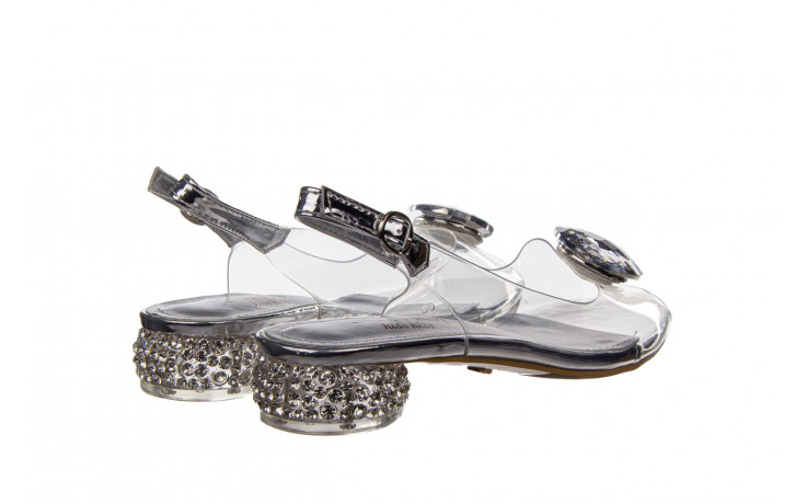 Sandały sca'viola g-15 silver 21 047183, srebro, silikon  - na obcasie - sandały - buty damskie - kobieta 3