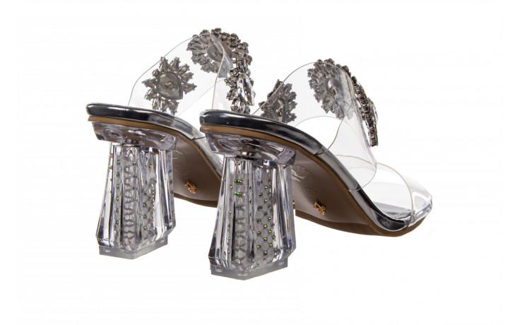 Klapki sca'viola g-58 silver 047188, srebro, silikon  - klapki - buty damskie - kobieta 3