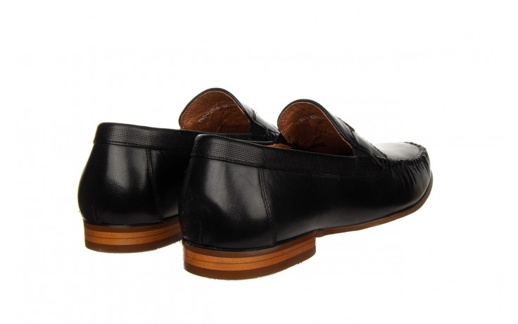 Mokasyny john doubare ygc-z2154-301-10 black 104174, czarny, skóra naturalna  - mokasyny i espadryle - buty męskie - mężczyzna 3