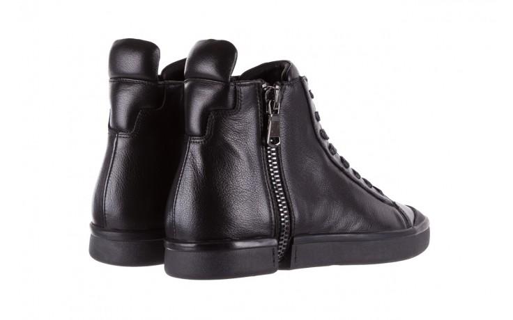 Sneakersy john doubare m5761-1 black, czarny , skóra naturalna  - trendy - mężczyzna 3
