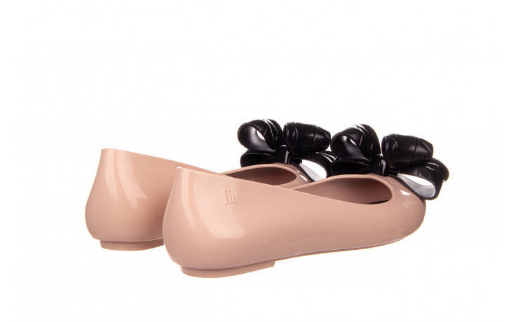 Baleriny melissa sweet love iv ad pink black 010371, róż, guma  - baleriny - melissa - nasze marki 3