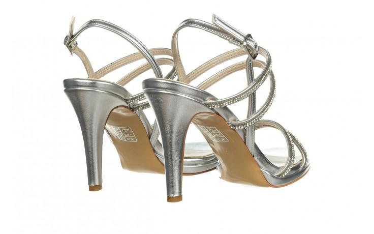 Sandały bayla-187 587-1120 silver 187016, srebro, skóra ekologiczna  - sandały - buty damskie - kobieta 3