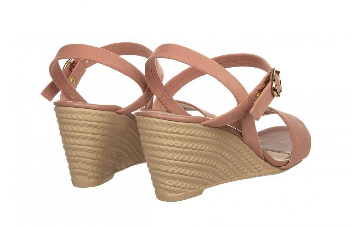 Sandały azaleia 680 242 suede old pink, róż, materiał  - koturny - buty damskie - kobieta 3