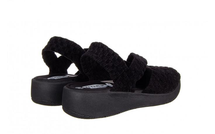 Sandały rock minily black cashmere 032847, czarny, materiał  - rock - nasze marki 3