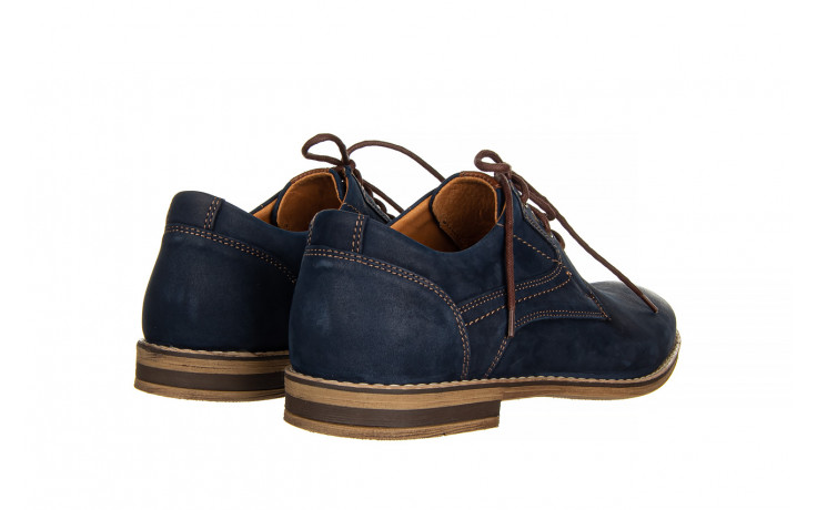 Półbuty bayla-081 831 juma blue ax, granat, skóra naturalna  - wizytowe - półbuty - buty męskie - mężczyzna 3