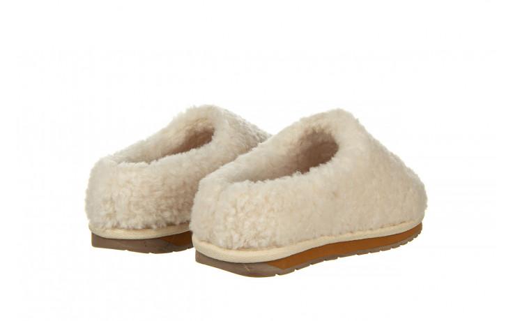 Klapki emu joy teddy natural 119139, beż, futro naturalne  - trendy - kobieta 3