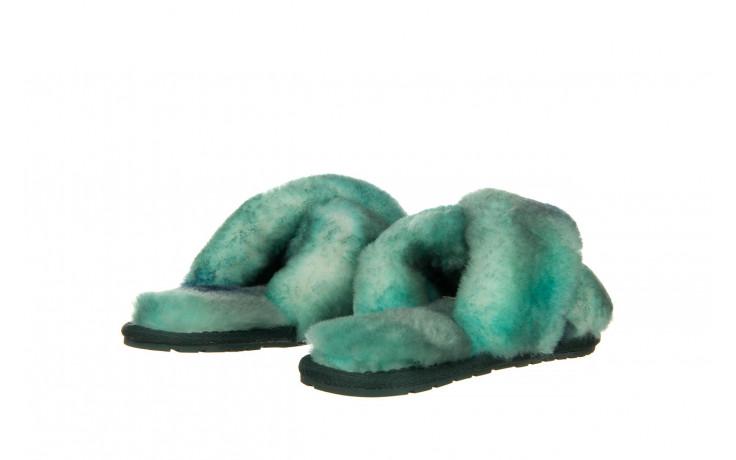 Kapcie emu mayberry tie dye green sea 119138, zielony, futro naturalne  - nowości 3