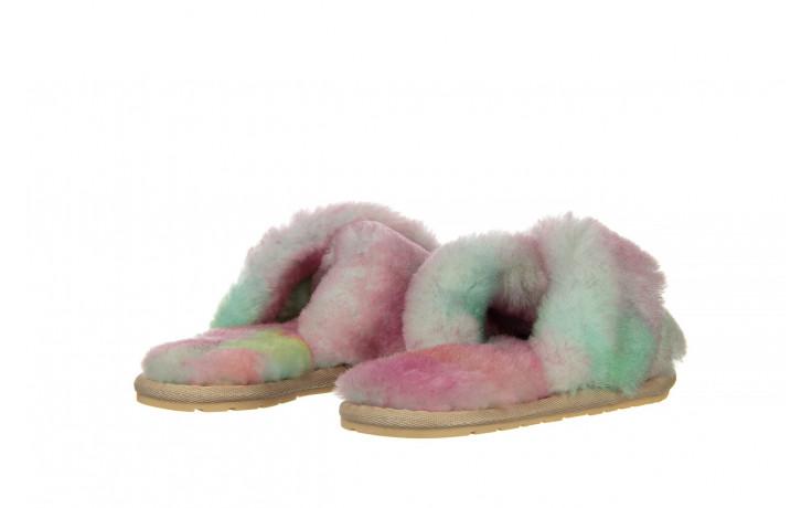 Kapcie emu mayberry tie dye fairly floss 119137, róż, futro naturalne  - nowości 3