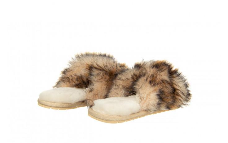 Kapcie emu mayberry lava chestnut 119134, beż, futro naturalne  - trendy - kobieta 3