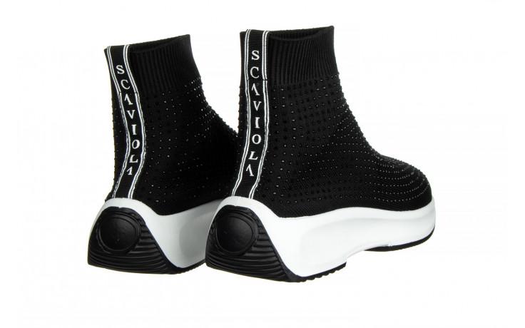 Sneakersy sca'viola l-15 black 047194, czarny, materiał - trendy - kobieta 3