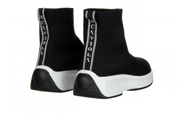 Sneakersy sca'viola l-16 black 047195, czarny, materiał - jesień-zima 2020/2021 3