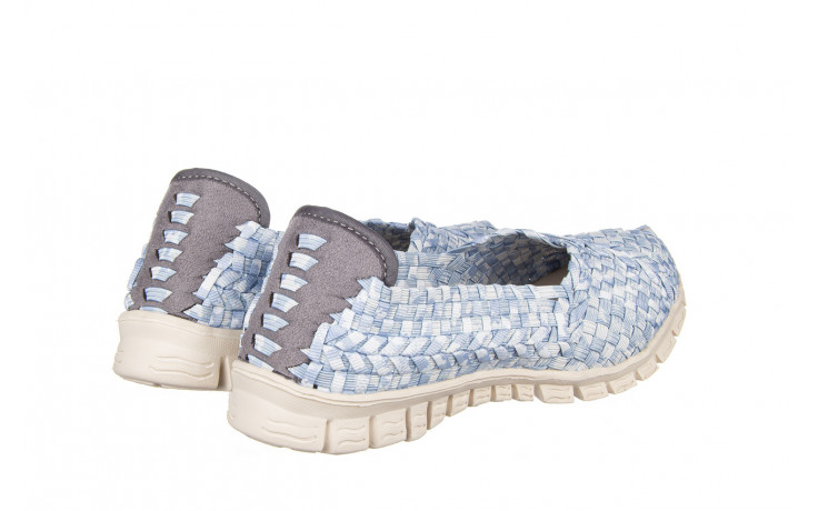 Półbuty rock carioca perena blue smoke 032826, niebieski/ biały, materiał - wsuwane - półbuty - buty damskie - kobieta 3