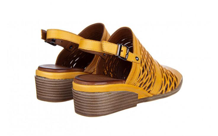Sandały bayla-161 061 1600 noce 161200, żółty, skóra naturalna  - bayla - nasze marki 3