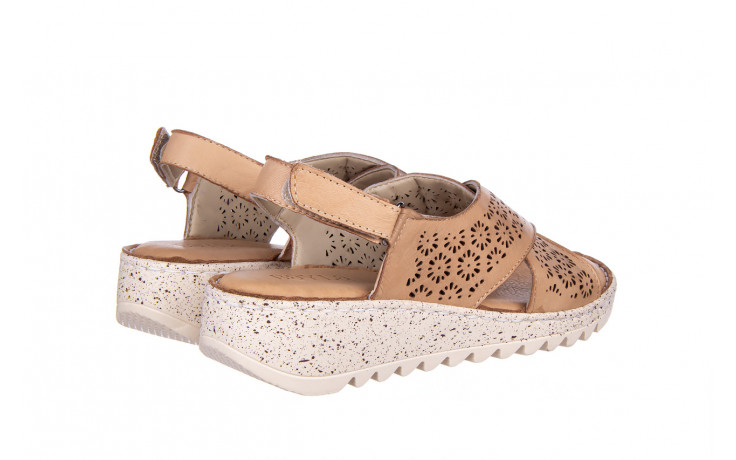 Sandały bayla-161 016 921 cappuccino 161192, brąz, skóra naturalna - sandały - buty damskie - kobieta 3