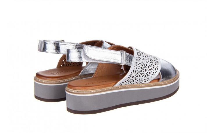 Sandały bayla-161 105 2014 white silver 161213, srebrny/ biały, skóra naturalna  - bayla - nasze marki 3