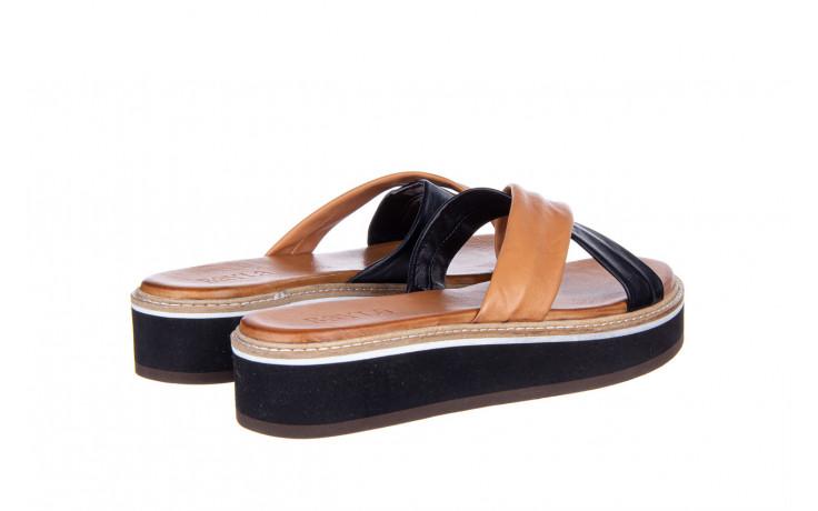 Klapki bayla-161 105 6004 black tan 161214, czarny/ brąz, skóra naturalna  - klapki - buty damskie - kobieta 3
