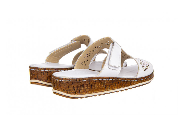 Klapki bayla-161 016 460 white 161189, biały, skóra naturalna  - bayla - nasze marki 3