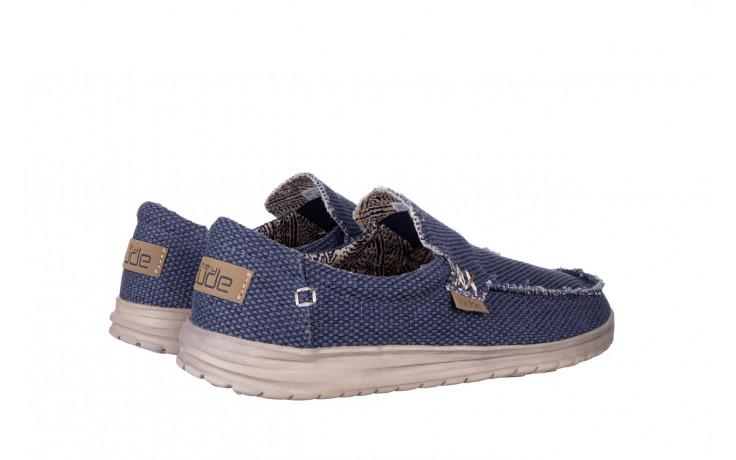 Półbuty heydude mikka braided deep blue 003196, granat, materiał - buty męskie - mężczyzna 3