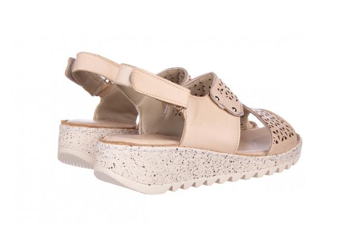 Sandały bayla-161 016 966 beige 161195, beż, skóra naturalna 3