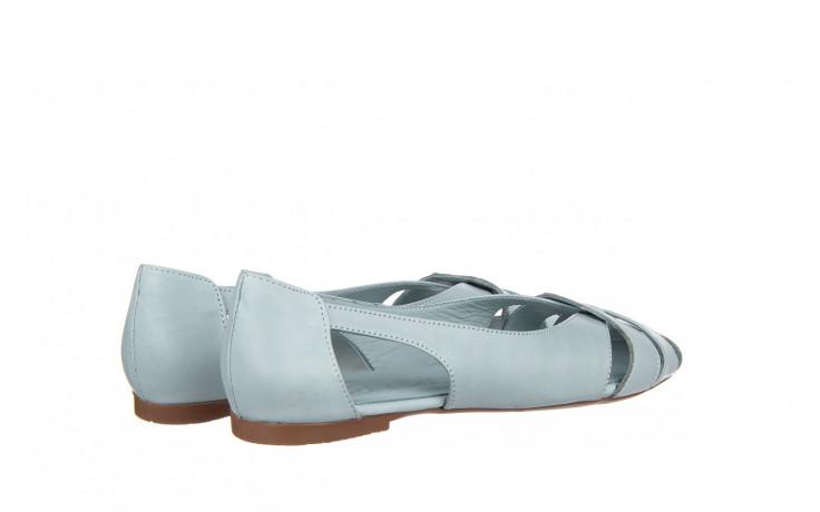 Baleriny bayla-161 138 1560 fresh 161220, niebieski, skóra naturalna - skórzane - baleriny - buty damskie - kobieta 3