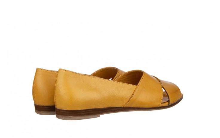 Baleriny bayla-161 138 80123 noce 161225, żółty, skóra naturalna  - skórzane - baleriny - buty damskie - kobieta 3