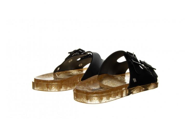 Klapki melissa wide ad black beige transparent 010357, czarny, guma - klapki - buty damskie - kobieta 3