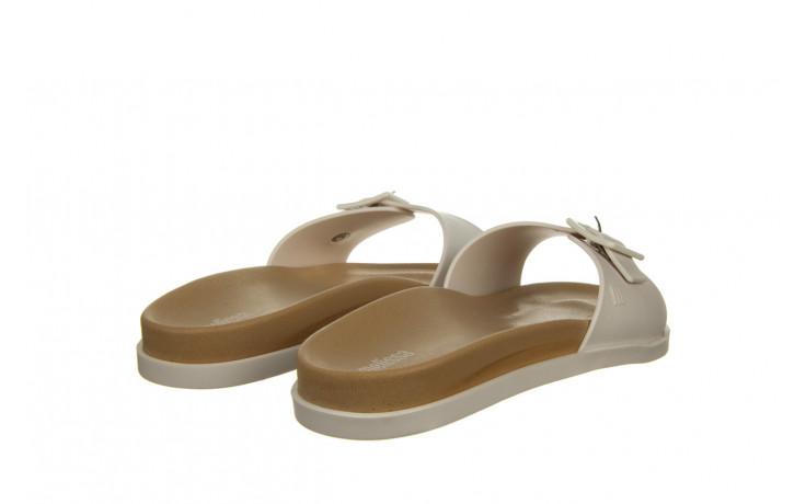 Klapki melissa wide slide ad white beige 010367, biały, guma - nowości 3