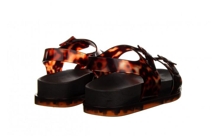Sandały melissa wide platform ad black turtoise 010362, czarny/ brąz, guma - nowości 3