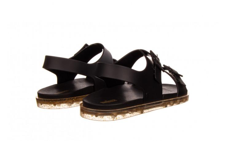 Sandały melissa wide sandal ad black rice husk 010358, czarny, guma - nowości 3