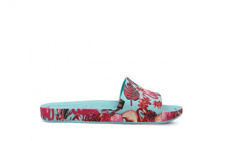 Klapki melissa beach slide 3db rainbow ad green pink, błękitne, guma - melissa - nasze marki