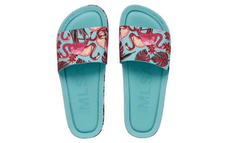 Klapki melissa beach slide 3db rainbow ad green pink, błękitne, guma - melissa - nasze marki 1