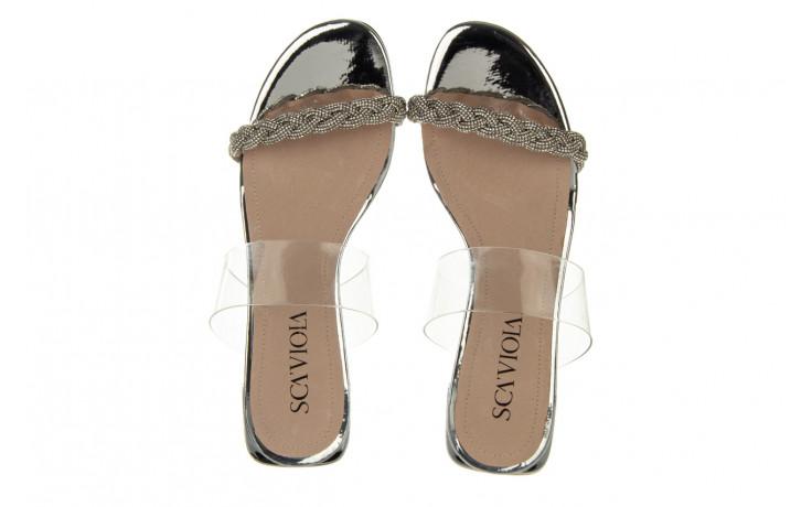 Klapki sca'viola b-205 silver 047180, srebro, silikon - klapki - buty damskie - kobieta 4