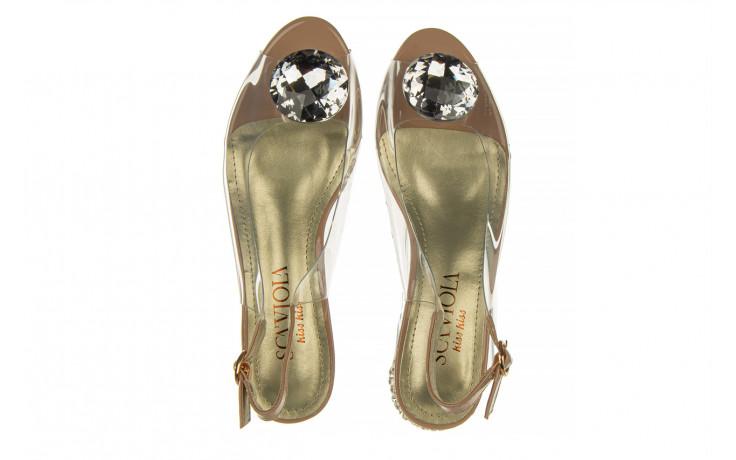 Sandały sca'viola g-15 l pink 21 047182, róż, silikon - na obcasie - sandały - buty damskie - kobieta 4