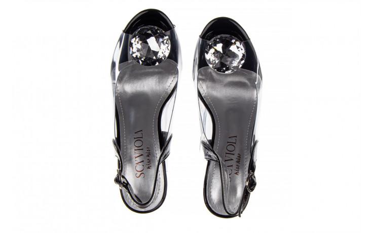 Sandały sca'viola g-17 black 21 047184, czarny, silikon  - na obcasie - sandały - buty damskie - kobieta 4