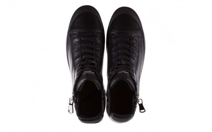 Sneakersy john doubare m5761-1 black, czarny , skóra naturalna  - trendy - mężczyzna 4