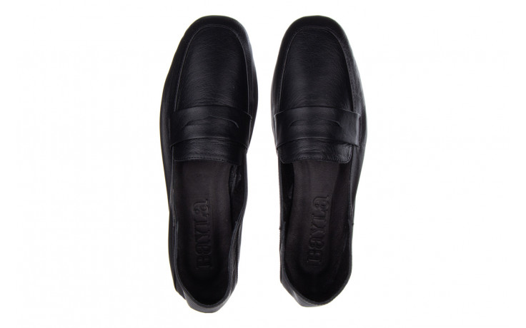 Półbuty bayla-161 138 4060 black 161222, czarny, skóra naturalna  - wsuwane - półbuty - buty damskie - kobieta 4