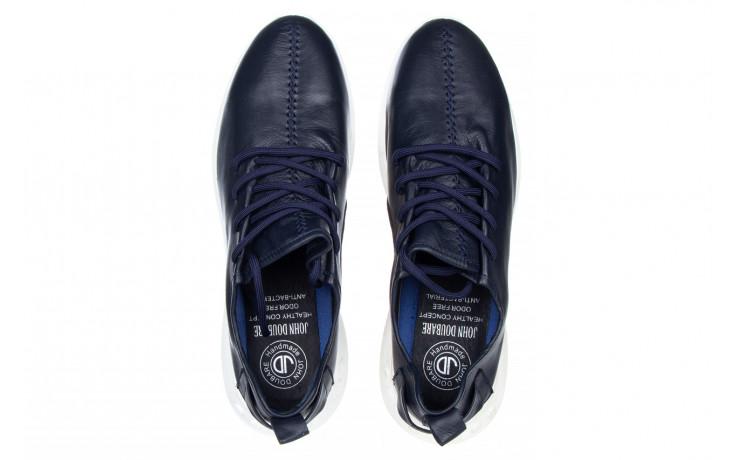 Trampki john doubare 198h-50-n454 blue 104168, granat, skóra naturalna - trampki - buty męskie - mężczyzna 4
