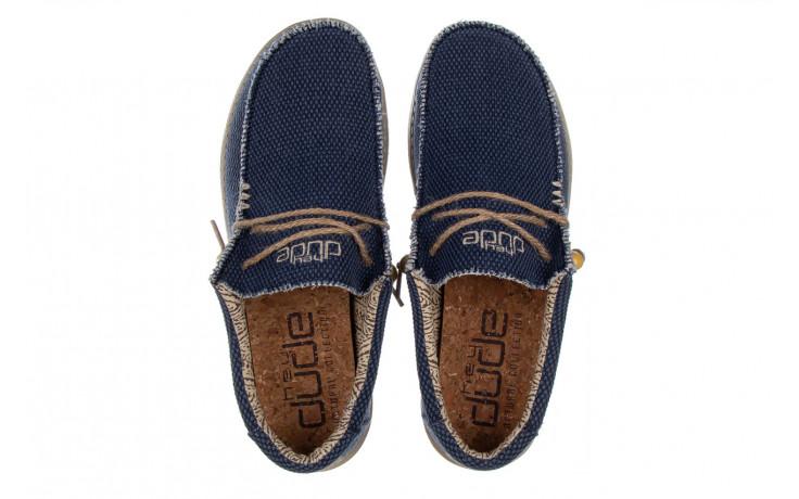 Półbuty heydude wally braided blue night 003197, granat, materiał  - trendy - mężczyzna 4