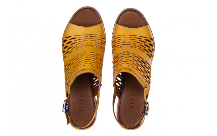 Sandały bayla-161 061 1600 noce 161200, żółty, skóra naturalna  - sandały - buty damskie - kobieta 4