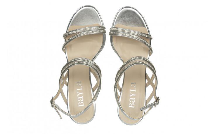 Sandały bayla-187 587-1120 silver 187016, srebro, skóra ekologiczna  - sandały - buty damskie - kobieta 4