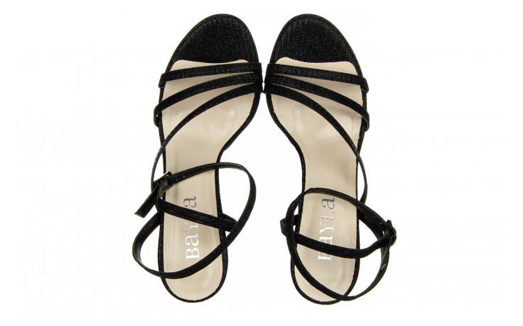 Sandały bayla-187 587-1115 black 187015, czarny, skóra ekologiczna  - sandały - buty damskie - kobieta 4